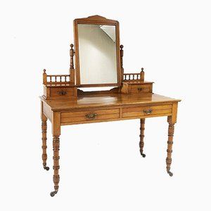 Satinwood Dressing Table with Mirror