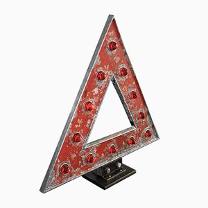 Industrial Enamel Triangle Road Sign, 1930s