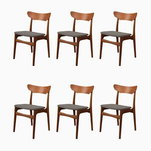 Dining Chairs by Schiønning & Elgaard for Randers Møbelfabrik, 1960s, Set of 6