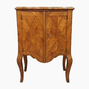 South Italian Precious Wood Marquetry Chest of Drawers with Curved Doors, 18th Century