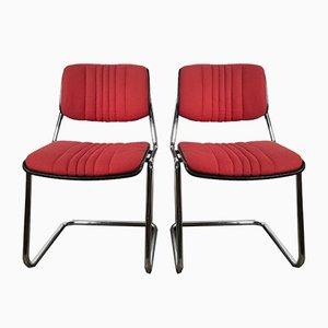 Esszimmerstühle aus Holz von Karl Dittert für Stoll Giroflex, 1970er, 2er Set