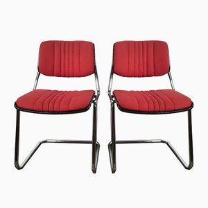 Wood Dining Chairs by Karl Dittert for Stoll Giroflex, 1970s, Set of 2