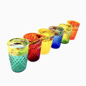 Murano Glass Water Glasses by Mar'yana Iskra for Vetrati, 2004, Set of 6