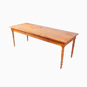 Antique French Cherry Wood Dining Table