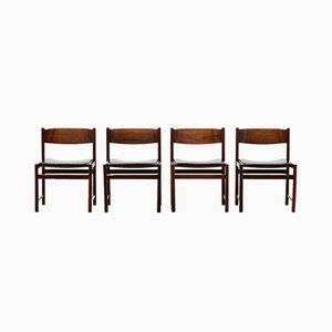 Mid-Century Rosewood Dining Chairs by Cees Braakman for Pastoe, Set of 4