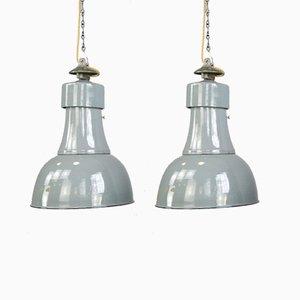 Bauhaus Pendant Lights by Schaco, 1920s, Set of 2