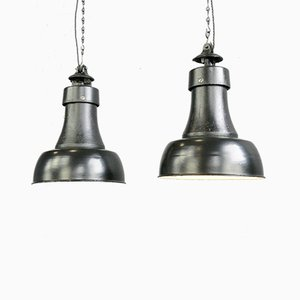 Bauhaus Pendant Lights by Schaco, 1920s, Set of 2