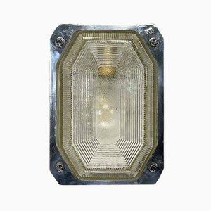 Große Britische Vintage Wandlampe aus Aluminium & Glas von Victor für Victor