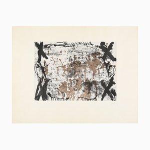 Tapies Antoni, Les Quatre Croix, Incisione a colori