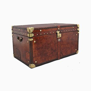 Large Leatherbound Army Trunk, 1930s
