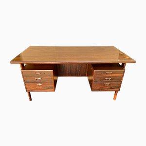 FM 60 Santos Rosewood Desk by Kai Kristiansen for Feldballes Møbelfabrik, 1960s