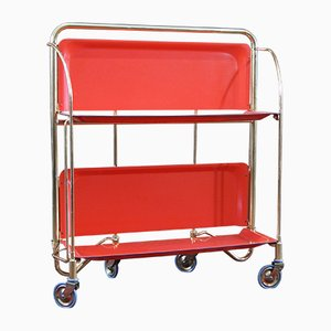 Mid-Century Orange Folding Trolley from Gerlinol
