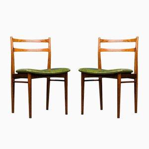 Dänische Palisander & Teak Esszimmerstühle von Henry Rosengren Hansen für Brande Møbelindustri, 1960er, 2er Set