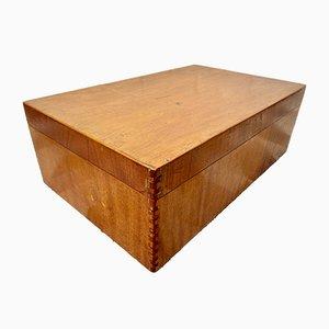 Mid-Century Wooden Storage Box