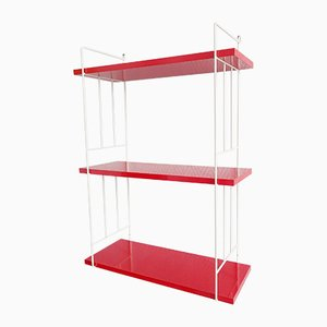 Red & White String Shelf, 1960s