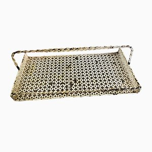 French Perforated Metal Tray by Mathieu Mategot for Artimeta, 1950s