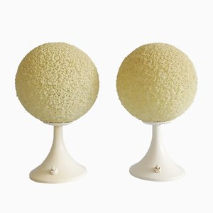 Space Age Granular Table Lamps or Bedside Lamps, 1960s, Set of 2