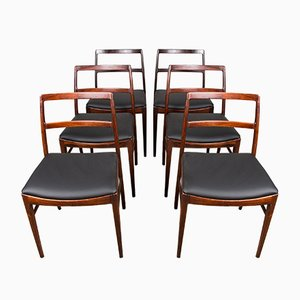 Danish Rosewood 420 Chairs by Arne Vodder for Sibast, 1960s, Set of 6