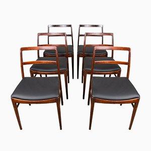 Sedie 420 in palissandro di Arne Vodder per Sibast, Danimarca, anni '60, set di 6