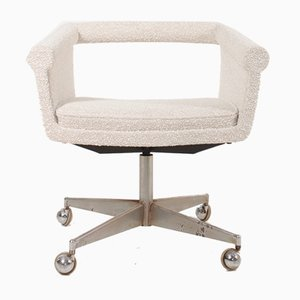 Desk Chair with New Boucle Fabric by Poul Jessen for PMJ, 1960s