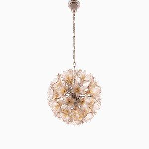 Murano Glas Deckenlampe von Toni Zuccheri für VeArt, 1960er