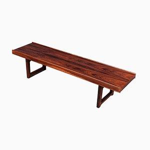 Krobo Rosewood Bench Side Table by Torbjorn Afdal for Bruksbo, 1960s