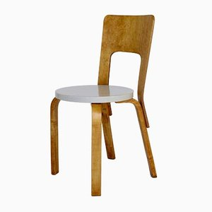 Plywood Model 66 High Back Side Chair by Alvar Aalto for Artek, 1930s