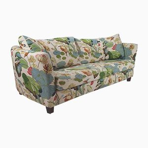 Vintage 3-Seater Lotus Linen Sofa by Josef Frank, 1930s