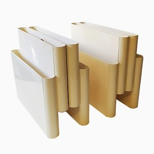 Magazine Racks by Giotto Stoppino for Kartell, 1970s, Set of 2