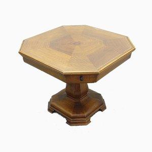Art Deco Walnuss Spieltisch, 1920er