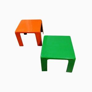 Tables d'Appoint Space Age par Mario Bellini, 1974, Set de 2