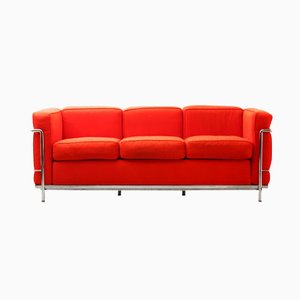 LC2 Three-Seater Sofa by Le Corbusier and Charlotte Perriand for Cassina