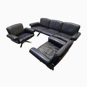 3-Sitzer DS 31 Sofa & 2 Drehstühle von de Sede, 1970er, 3er Set