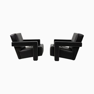 Vintage Utrecht Lounge Chairs by Gerrit Rietveld for Cassina, Set of 2