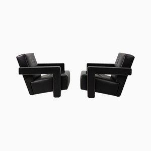 Vintage Utrecht Sessel von Gerrit Rietveld für Cassina, 2er Set
