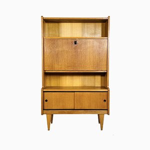 Blond Oak Secretaire, France, 1950s