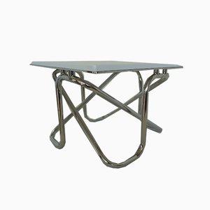 Chrome Tubular Lacquered Coffee Table, 1970s