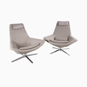 Metropolitan Swivel Chairs by Jeffrey Bernett for B&B Italia, 2003, Set of 2