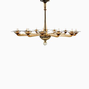 Murano Glass Ceiling Lamp by Veronese, 1930s