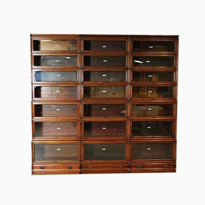 Large Antique Mahogany 28-Piece Bookcase from Globe Wernicke, Set of 28