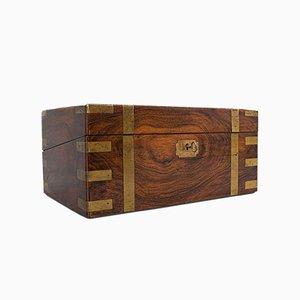 Antique English Mahogany and Brass Correspondence Box