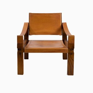 Model S10 X Leather Lounge Chair by Pierre Chapo for Chapo, 1970s