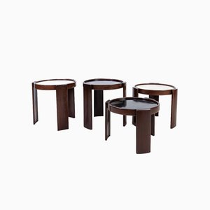 Model 780 Nesting Tables by Gianfranco Frattini for Cassina, 1970s, Set of 4