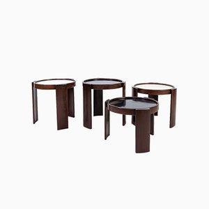 Tavolini a incastro modello 780 di Gianfranco Frattini per Cassina, anni '70, set di 4