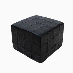 Patchwork Leather Cubus Stool from de Sede, 1970s