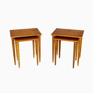 Swedish Teak Nesting Tables, 1960s, Set of 2