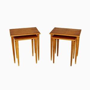 Tables Gigognes en Teck, Suède, 1960s, Set de 2