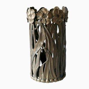 Massiver skulpturaler Schirmständer aus Messing, 1960er