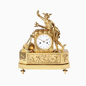 French Merkur Pendulum Clock from Riquier, 1810s