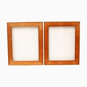 Biedermeier Cherry Wood Picture Frames, Set of 2